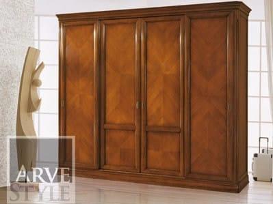 Solid wood wardrobe with sliding doors CAPRI | Wardrobe with sliding doors by Arvestyle