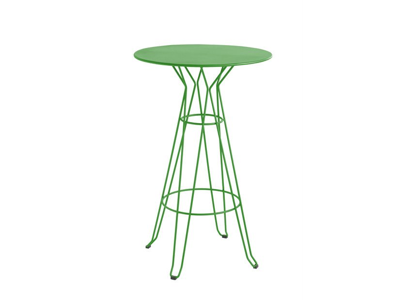 Lacquered round high table CAPRI | High table by iSimar