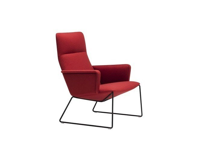 Sled base high-back armchair CAPRI LOUNGE BU1696 by Andreu World
