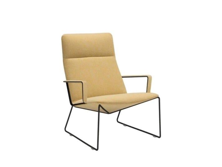 Sled base high-back armchair CAPRI LOUNGE BU1698 by Andreu World