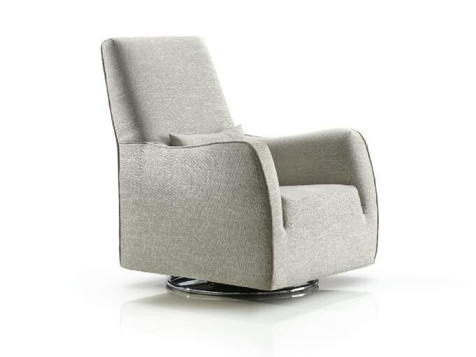 Upholstered fabric armchair with armrests CAPRI by Papadatos