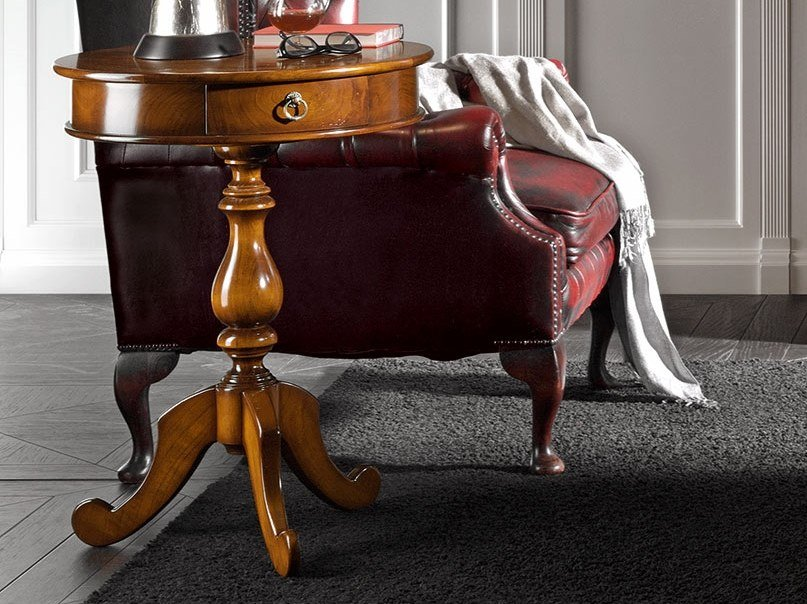 Cherry wood coffee table with 3-star base CAPRICCI | Coffee table with 3-star base by Prestige