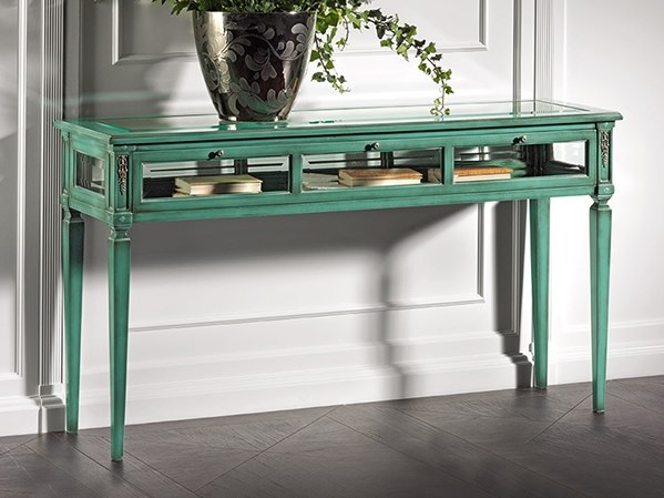 Rectangular wood and glass console table CAPRICCI | Rectangular console table by Prestige