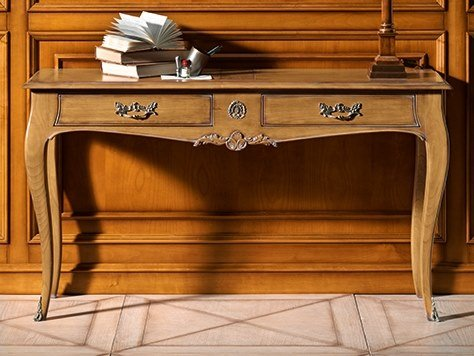Rectangular cherry wood console table with drawers CAPRICCI | Console table with drawers by Prestige