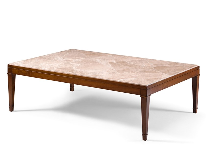 Rectangular custom wooden coffee table CAPRICCI | Custom coffee table by Prestige