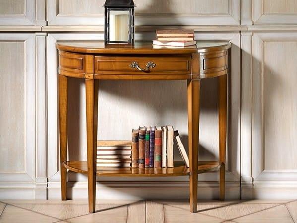 Demilune cherry wood console table CAPRICCI | Demilune console table by Prestige
