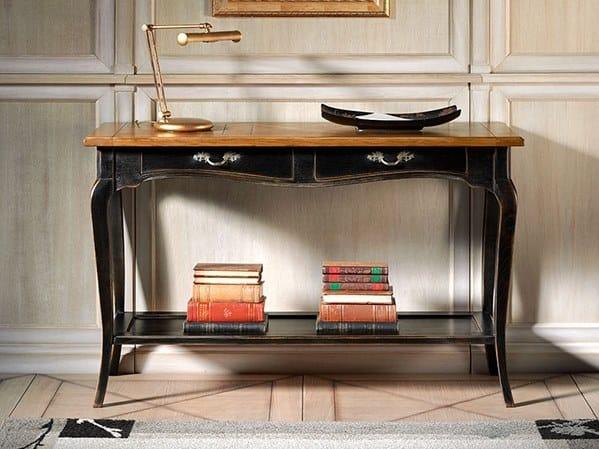 Rectangular oak console table CAPRICCI   Oak console table by Prestige