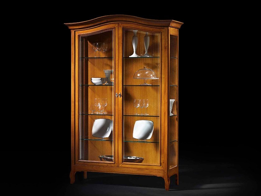 Oak display cabinet CAPRICCI | Oak display cabinet by Prestige