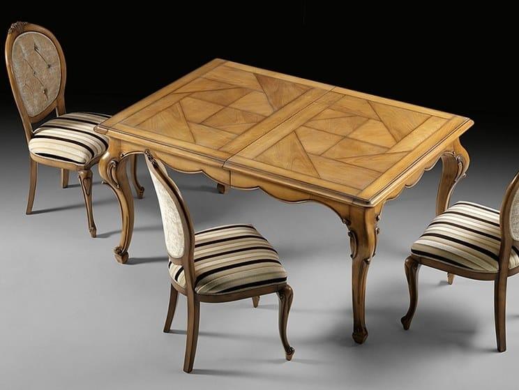 Extending rectangular cherry wood table CAPRICCI | Rectangular table by Prestige