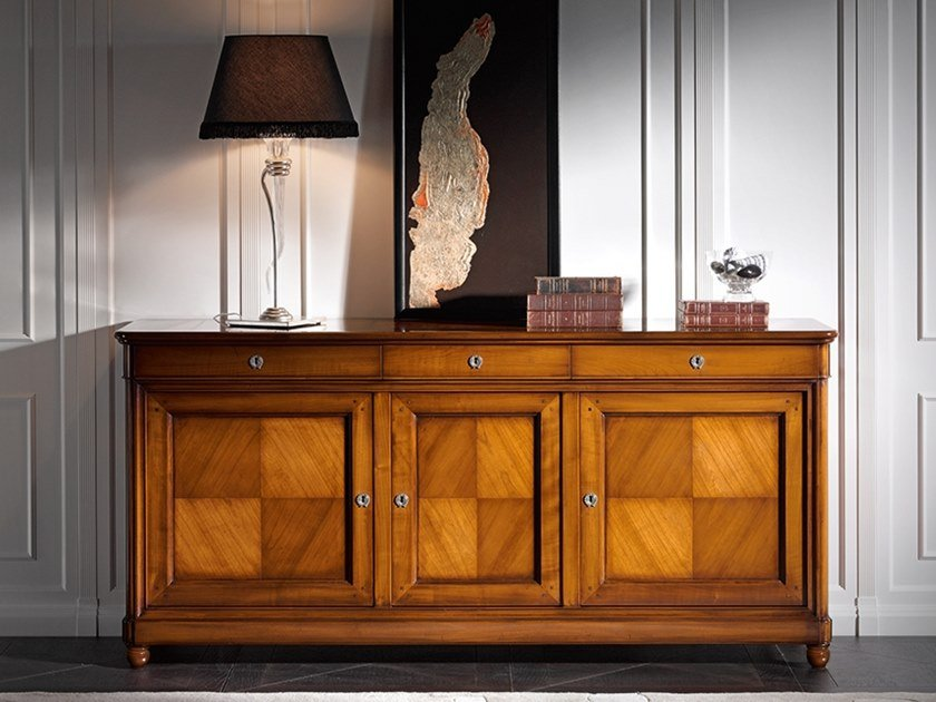 Cherry wood sideboard with doors CAPRICCI | Sideboard with doors by Prestige
