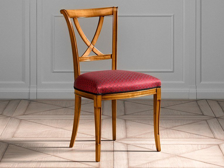 Upholstered open back fabric chair CAPRICCI | Upholstered chair by Prestige