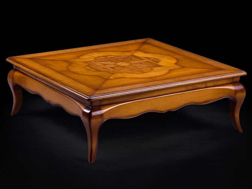 Square wooden coffee table for living room CAPRICCI | Wooden coffee table by Prestige
