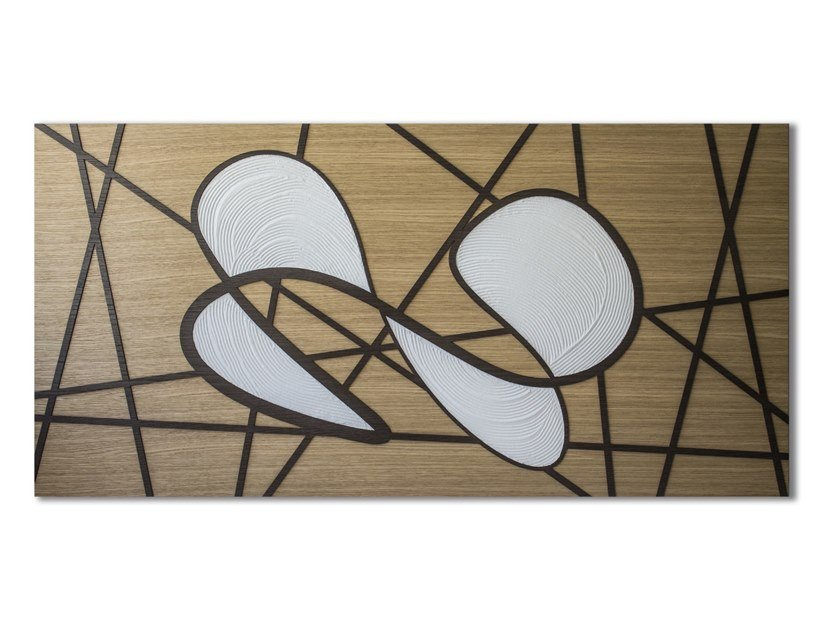 Three-dimensional decorative panel made of inlayed wood CAPRICCIO INFINITY by LIGNIS®