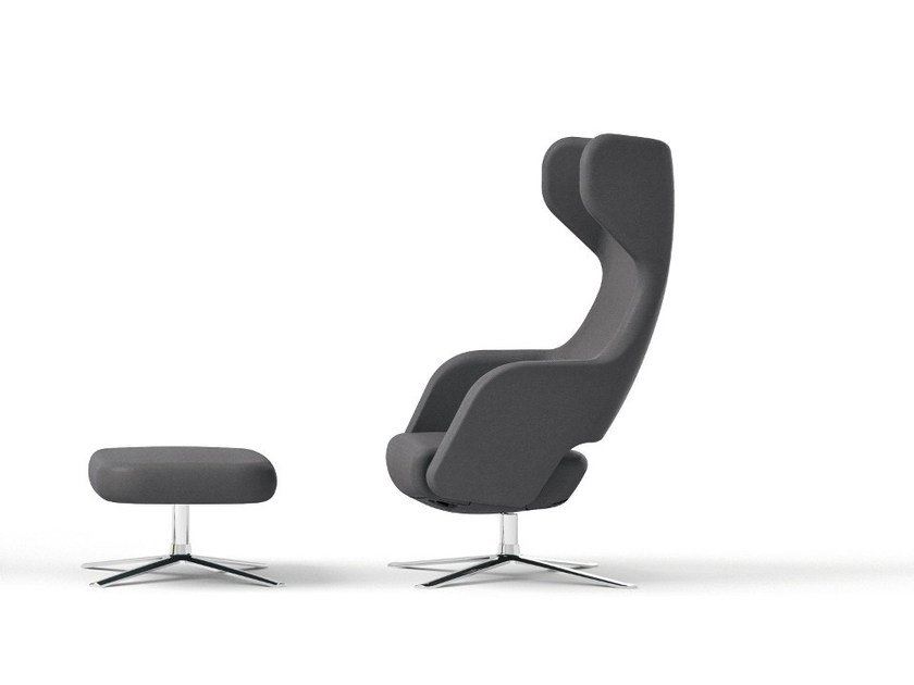 Sensational Swivel Fabric Armchair With 4 Spoke Base With Armrests Machost Co Dining Chair Design Ideas Machostcouk