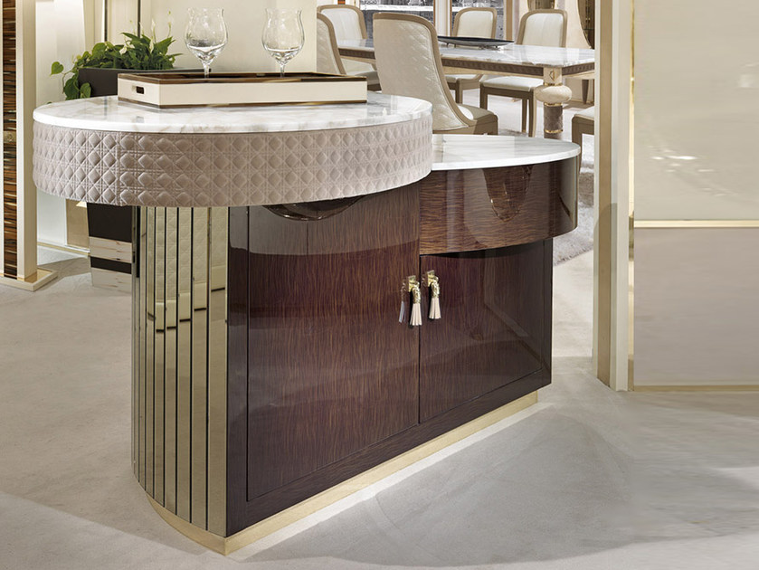 Lacquered wooden bar cabinet CARACTERE | Bar cabinet by Turri