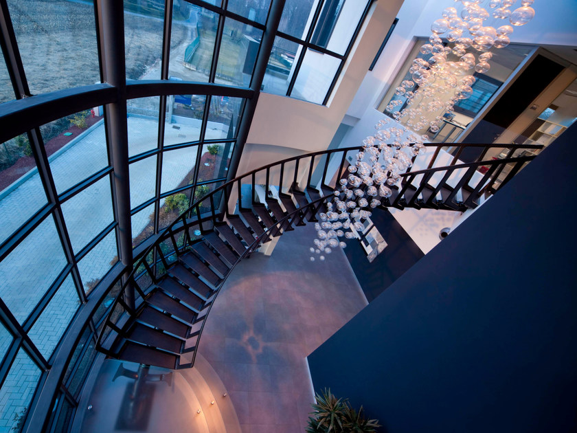 Helical carbon fibre Spiral staircase CARBON by Siller Treppen