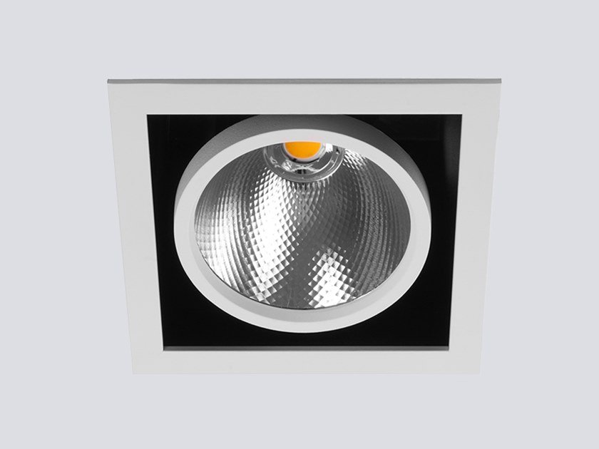 LED square recessed spotlight CARDAN 90.1 by ONOK Lighting