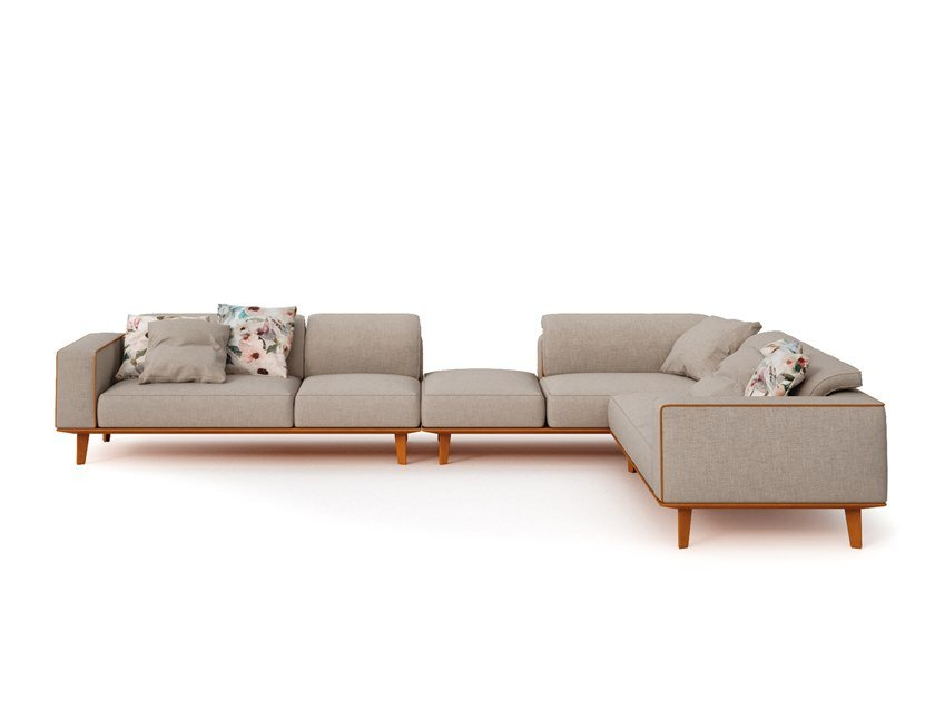Corner modular fabric sofa CARESSE EN-VOL | Corner sofa by ESTEL GROUP