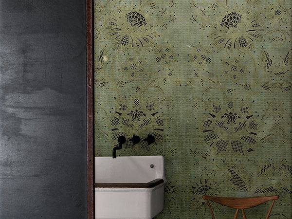 Motif bathroom wallpaper CARILLON by Wall&decò