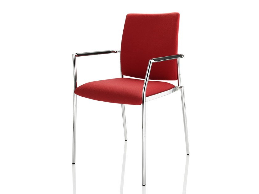 Upholstered fabric chair with armrests CARLO   Fabric chair by Boss Design