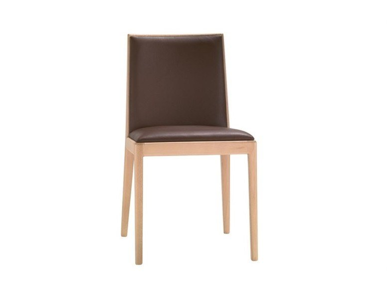 Upholstered leather chair CARLOTTA SI0991 | Leather chair by Andreu World