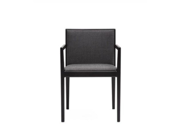 Upholstered fabric chair with armrests CARLOTTA SO0916 | Fabric chair by Andreu World