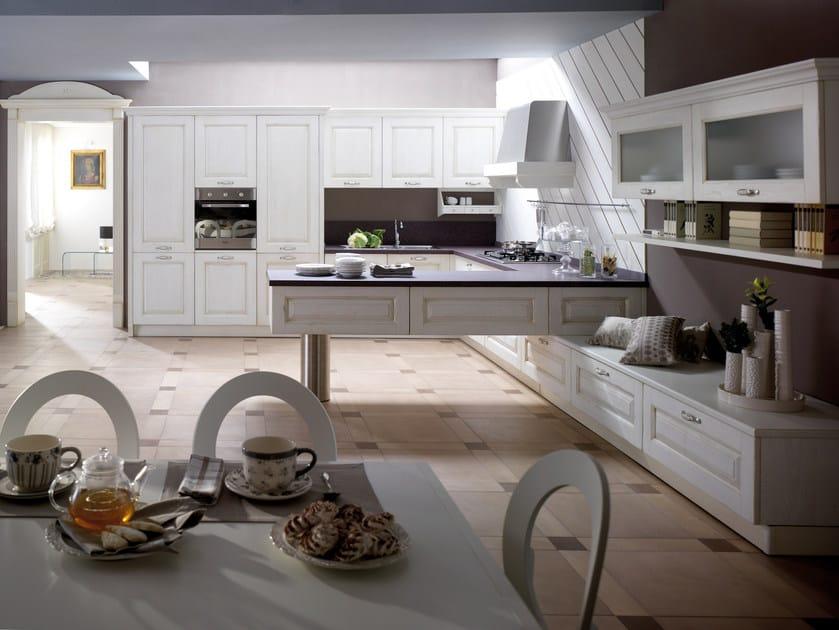 Cucina componibile in frassino con penisola carmen cucina con penisola collezione carmen by - Cucine concreta ...