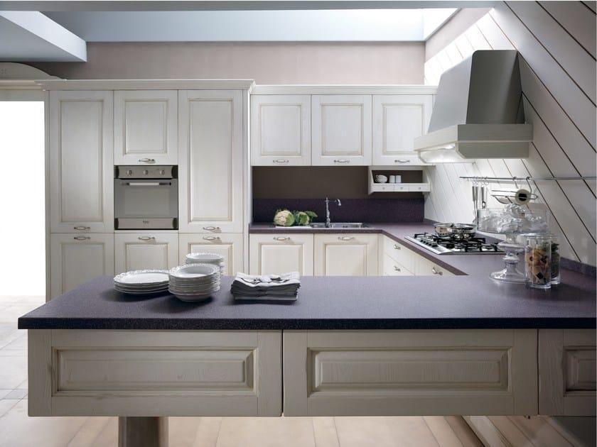 Cucina componibile in frassino con penisola carmen cucina con penisola collezione carmen by - Cucine floritelli ...