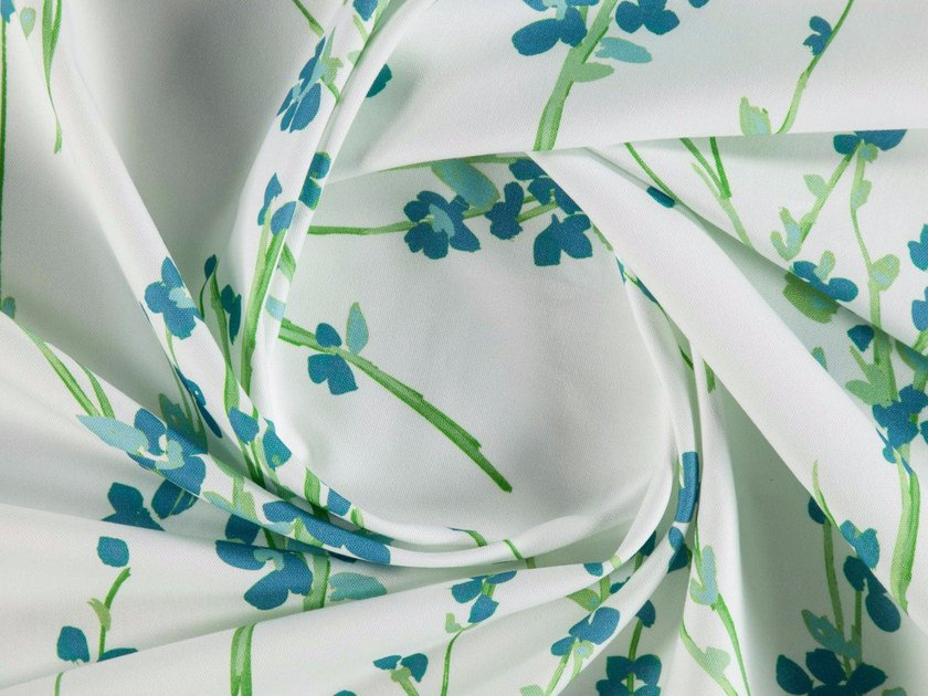 Printed cotton fabric with floral pattern for curtains CARMEN by More Fabrics