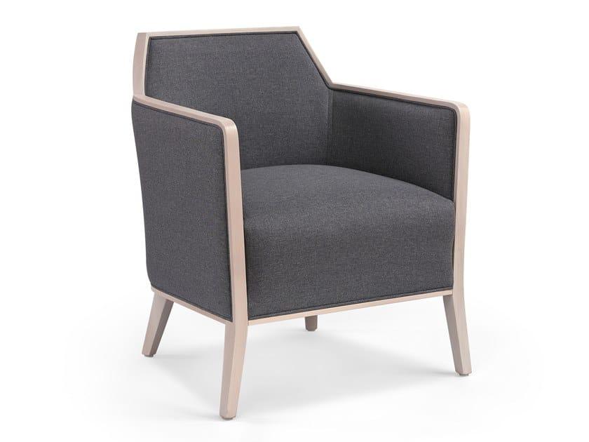 Cadeira lounge de tecido com braços CARPIEN MASS by Fenabel