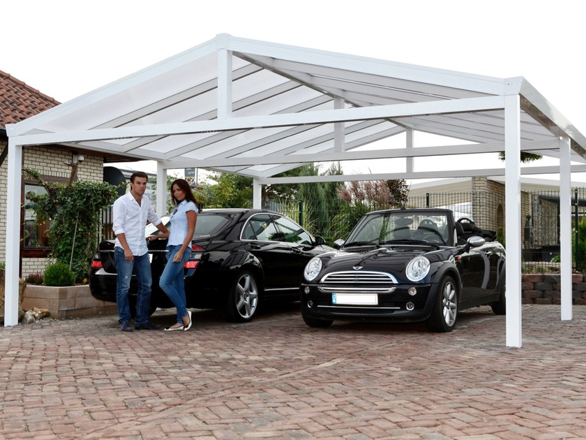 Carport Double saddled carport by Gardendreams