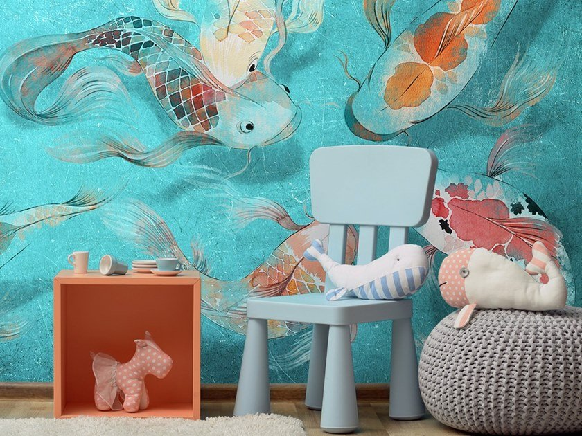 Ecological washable PVC free wallpaper CARPTOON by Wallpepper