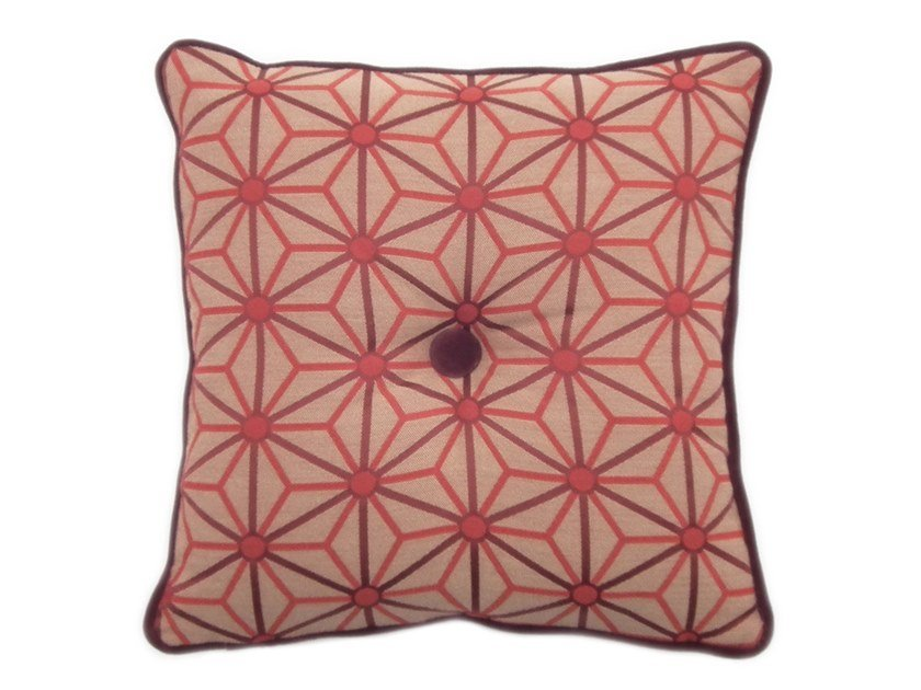 Square fabric cushion CARRÉ 073-12 by l'Opificio