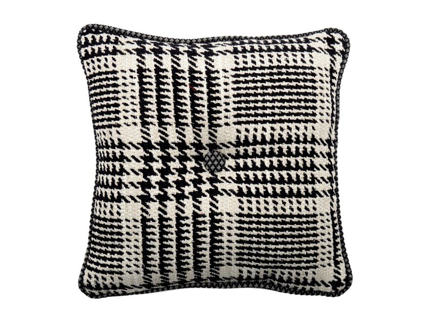 Square fabric cushion CARRÉ 197-16 by l'Opificio