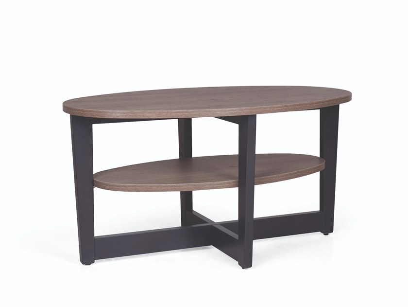 Oval wooden coffee table CARTER 300 by Fenabel