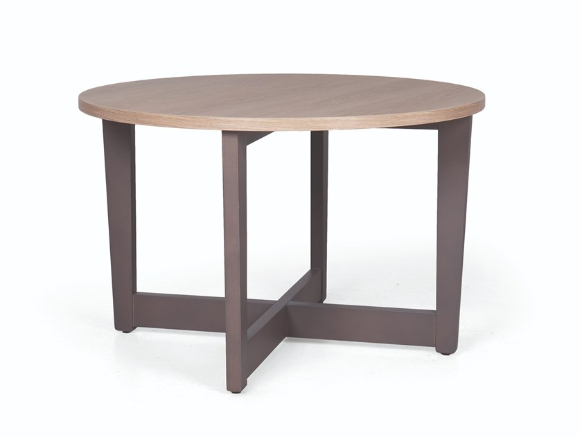 Round wooden coffee table CARTER SP 100 by Fenabel
