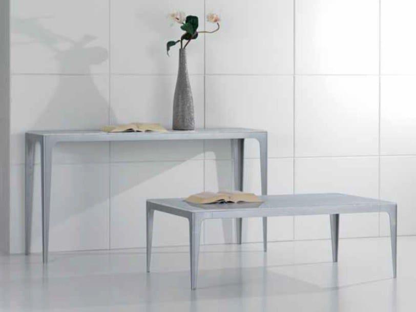 Rectangular Carrara marble console table CARTESIO   Console table by International Marmi