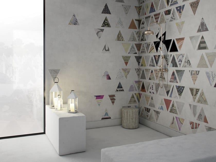 Geometric writing GlamFusion™ wallpaper CARTESIO by GLAMORA