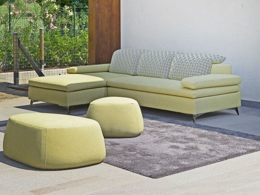 Fabric sofa with removable cover with chaise longue CARTESIO | Sofa with chaise longue by Gobbo Salotti