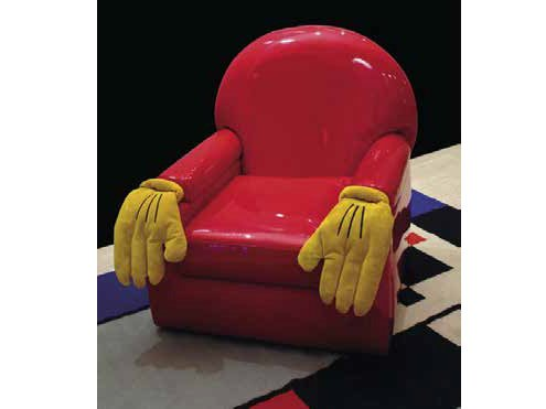 Upholstered PVC armchair with armrests CARTOON | Armchair by Mirabili