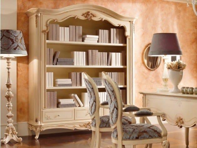 Lacquered bookcase with drawers CASA PRINCIPE | Bookcase by Valderamobili