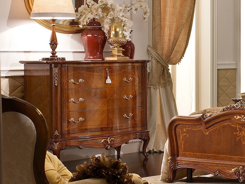 Walnut chest of drawers CASA PRINCIPE | Chest of drawers by Valderamobili