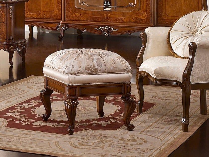 Walnut footstool CASA PRINCIPE | Footstool by Valderamobili