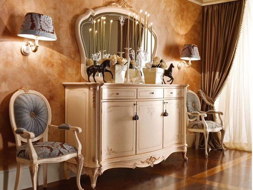 Lacquered sideboard with doors CASA PRINCIPE | Sideboard by Valderamobili