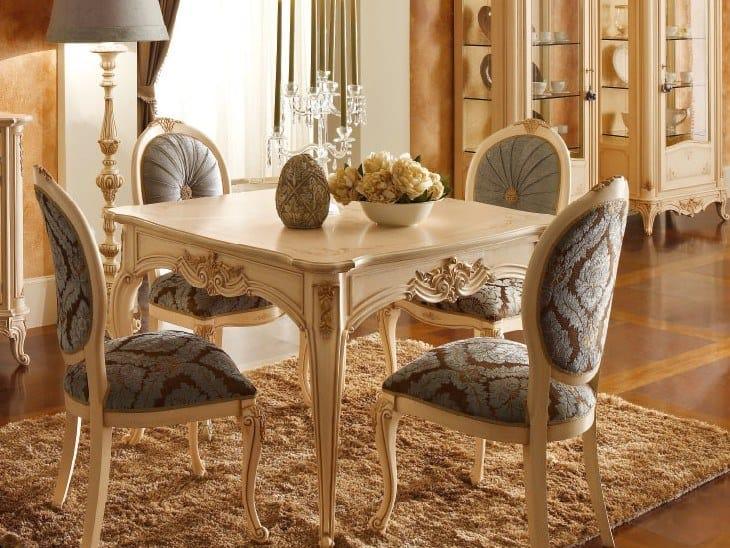 Extending lacquered square table CASA PRINCIPE   Table by Valderamobili