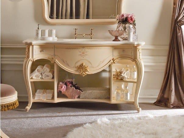 Lacquered vanity unit with drawers CASA PRINCIPE | Vanity unit by Valderamobili