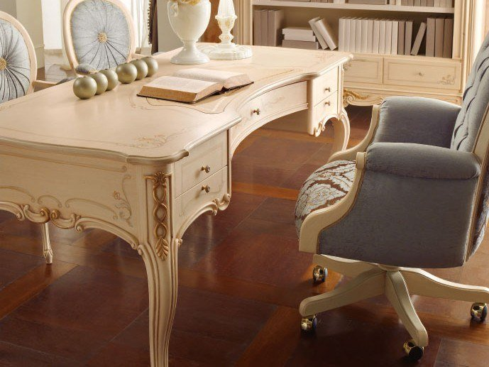 Lacquered writing desk with drawers CASA PRINCIPE | Writing desk by Valderamobili