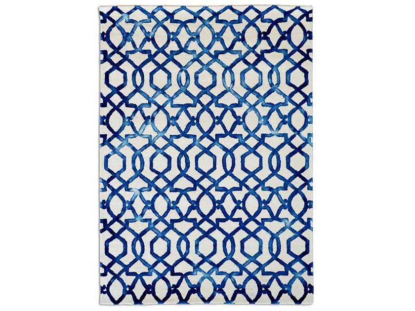 Rectangular wool rug with geometric shapes CASABLANCA | Rug by G.T.DESIGN