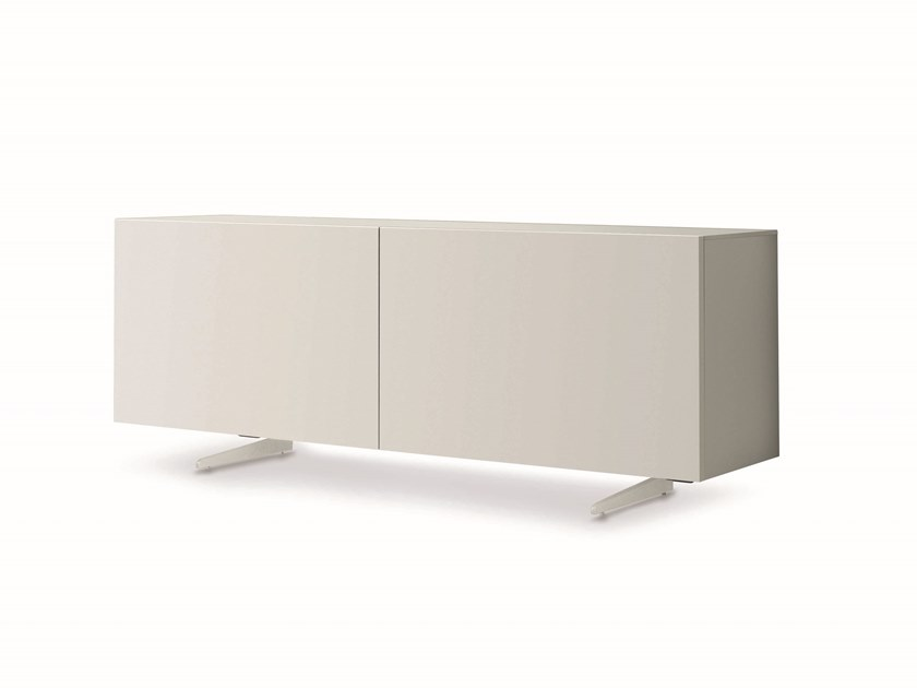 Lacquered sideboard with sliding doors CASABLANCA | Lacquered sideboard by ZANETTE