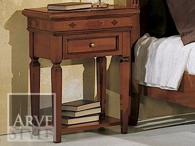 Rectangular solid wood bedside table CASANOVA | Bedside table by Arvestyle